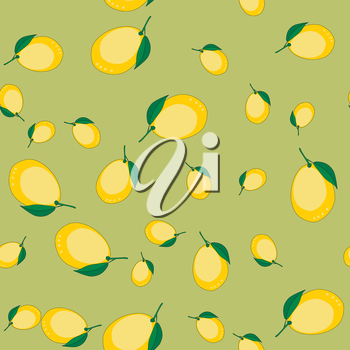 Seamless pattern with cartoon lemons. Fruits repeating background. Endless print texture. Fabric design. Wallpaper 589
