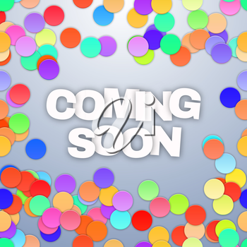 Coming Soon on white background. Vector illustration