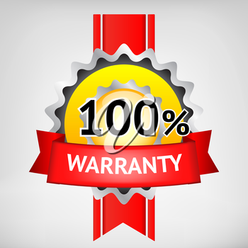 Multi color warranty vector image elements sign