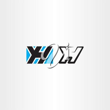 yh letter y and h logo symbol vector