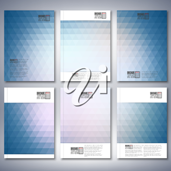 Abstract blue background, triangle design vector. Brochure, flyer or report for business, templates vector.
