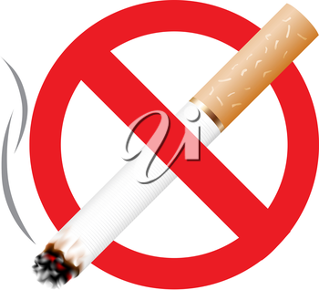 No smoking icon isolated on the white background