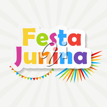 Holiday. Festa Junina Background Vector Illustration EPS10