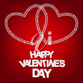 Happy Valentines Day Card. Vector Illustration. EPS10