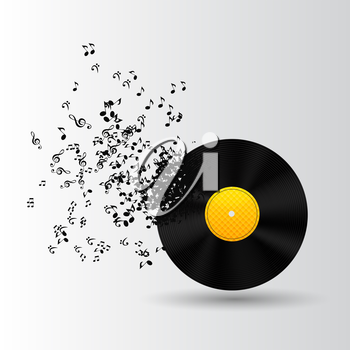 Abstract Music Background Vector Illustration for Your Design EPS10