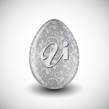 Beautiful Easter Egg Isolated Vector Illustration EPS10