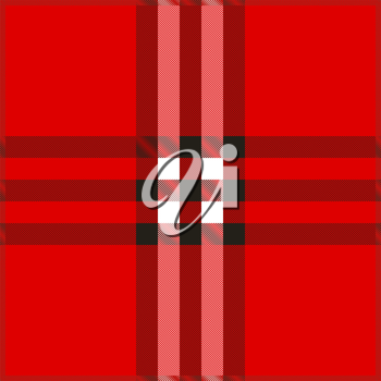 Red Plaid texture background vector illustration. EPS10