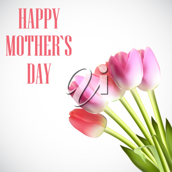 Happy Mother Day Poster Card Vector Illustration EPS10