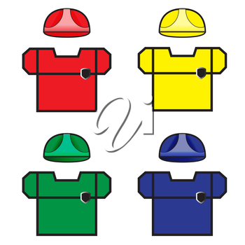 Colored Beautiful Workwear. Isolated Vector Illusatration. EPS10