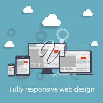 Responsive web design icon. Vector Illustration. EPS10