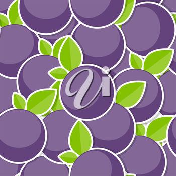 Seamless Pattern Background from Berrys Vector Illustration. EPS10