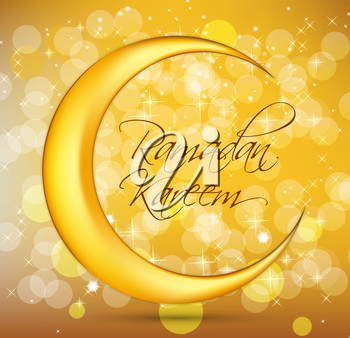 Ramadan Kareem Background Design. Vector Illustration EPS10