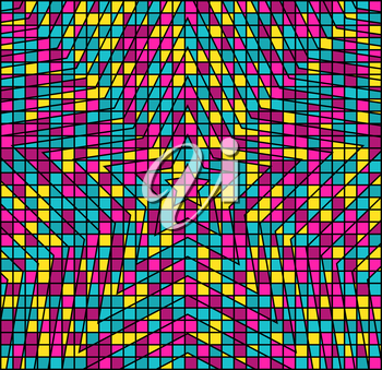 Abstract Multicolor Hypnotic Background. Vector Illustration EPS10