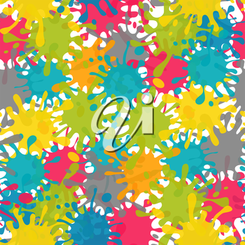 Vector Splash Abstract Seamless Pattern Background. EPS10