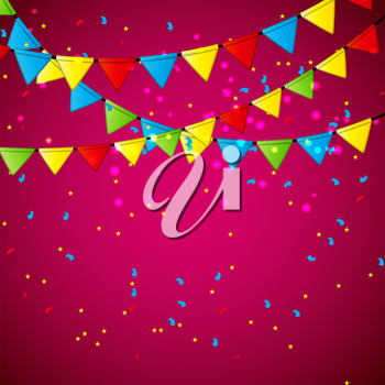 Colorful Party Flag Background Vector Illustration. EPS10