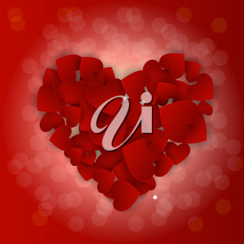 Valentine s Day Heart Symbol. Love and Feelings Background Design. Vector illustration EPS10