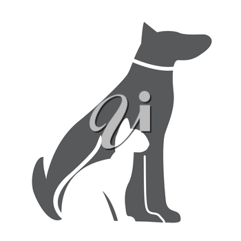 Pet , Dog and Cat Icon. Material for Design. Vector Illustration EPS10
