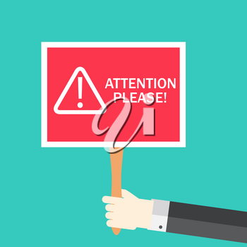 Attention please concept of important announcement. Vector illustration  EPS10