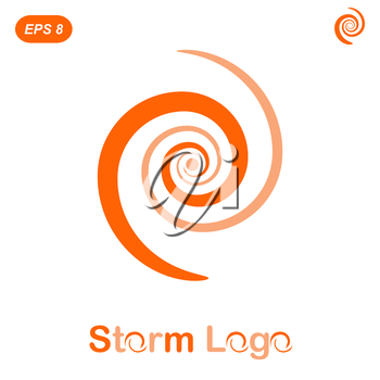 Storm logo concept, 2d flat illustration, vector, eps 8