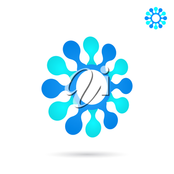 Circular connection illustration, 2d and 3d vector icon, eps 10