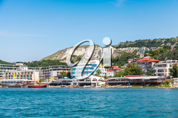 Summer cityscape of Balchik town, Coast of Black Sea, Varna region, Bulgaria
