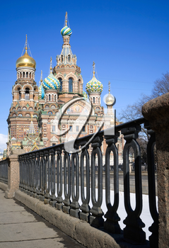 Orthodox Church of the Savior on Blood. Famous landmark in Saint Petersburg, Russia