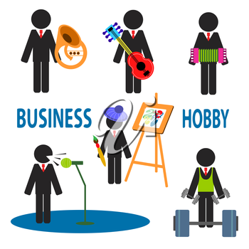 Interesting illustrations about the business and their hobbies