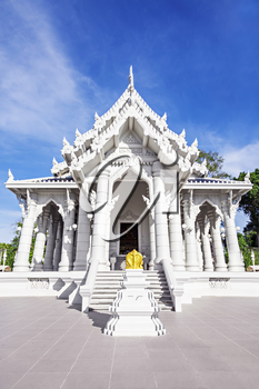 Beauty white temple in Thailand