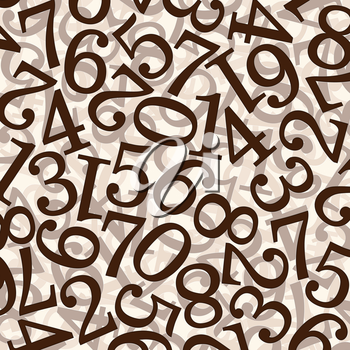 Abstract numbers. Use for background or texture