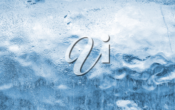 Close-up of blue ice. Use for background
