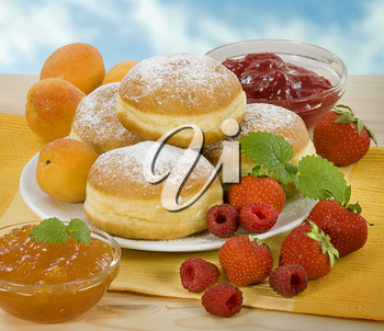 Donuts with jam filling