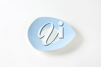 Triangle blue and white saucer