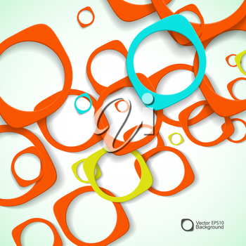 Abstract background of colored rounded bulk items.