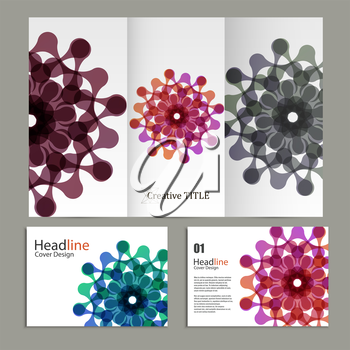 Vector pattern flyer and brochure with abstract figures.