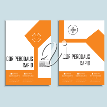 Vector brochures template for presentations, covers, books and business documents.