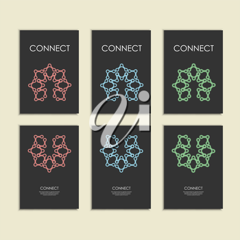 Abstract connect figure on brochure template.