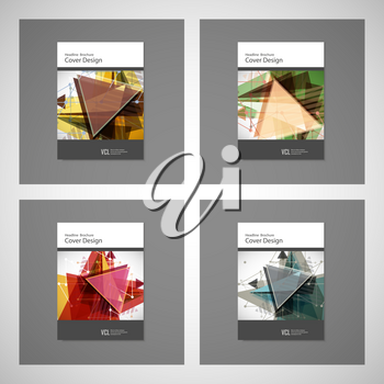 Abstract Triangle line. Poster Brochure Flyer design Layout vector template in A4 size.
