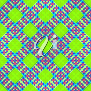 Seamless Background with Abstract Colorful Tile Geometric Pattern. Eps10, Contains Transparencies. Vector