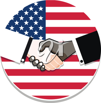 symbol handshake in honor of Martin Luther King day