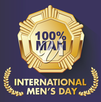card for a real man with a medal