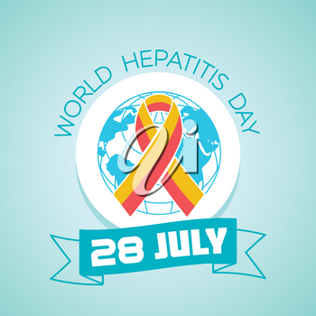 Calendar for each day on july28. Greeting card. Holiday -   World Hepatitis Day. Icon in the linear style