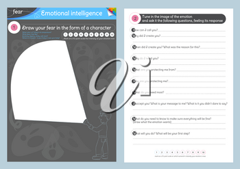 educational game for children and adults on the study of emotional intelligence. The task draw your fear in the form of a character and ask it the following questions, feeling its response