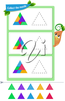 educational game for kids and adults development of mental rotation skills, iq. Thinking Puzzles . Task game for children collect the puzzle