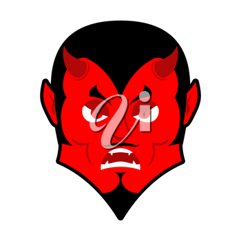 Evil Devil. Angered by Satan. Red Demon furious. Angry Lucifer. prince of darkness and underworld. Religious and mythological character, supreme spirit of evil. Diablo Lord of Hell
