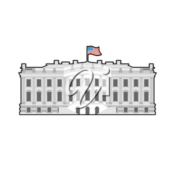 White House America. Residence of President USA. US government building. American political character. Main attraction washington dc. patriotic mansion United States