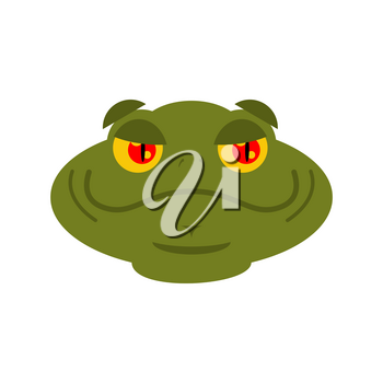Frog merry emoji. toad Avatar Good amphibious. Emotion Reptile Face