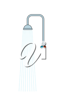 Shower isolated. Water and central water supply. Wash