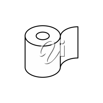 Toilet paper roll icon. Symbol for packing. Vector illustration