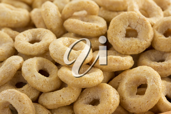 corn flakes rings as background texture