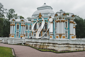 The Hermitage in Catherine Park of the settlement Tsarskoye Selo the Leningrad region nearby to the city of St. Petersburg.